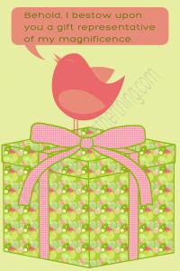 gifting bird