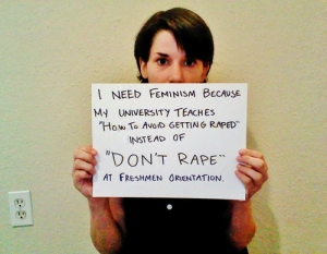 i need feminism because